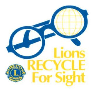 Recycle eye glasses logo